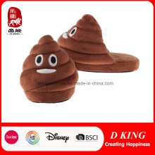 Hot Sale Custom Plush Poop Emoji Slipper