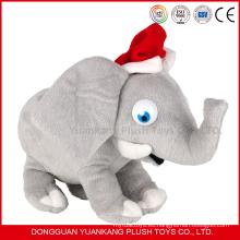 Juguetes de elefante de peluche y felpa de regalo de Navidad con orejas grandes