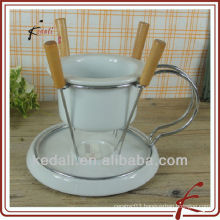 ceramic butter warmer set with rack
