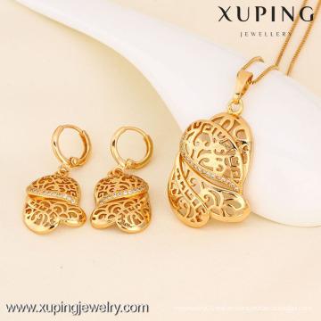 Colgante y pendiente de la moda de la joyería 61367-Xuping con el oro 18K plateado