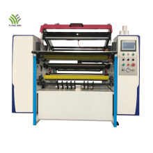 Máquina rebobinadora de corte longitudinal de papel térmico