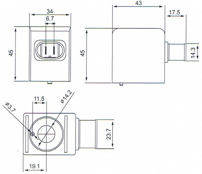 Dimension of BB14245011 Solenoid Coil: