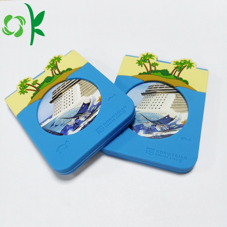 3d Blue Card Holder
