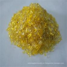 Arena de vidrio amarillo, cristal para el vidrio arquitectónico