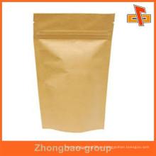 Guangzhou fabricante de tapa de la cremallera papel de prueba de humedad bolsa de comida resellable para frutas secas