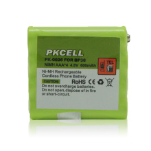 batería del teléfono inalámbrico nimh AAA 600mah 4.8V battery pack