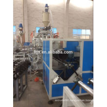 steel reinforced spiral corrugated plastic pipe production line
