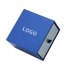Luxury Fancy Custom Elegant Jewelry Packaging earring Box Blue matchbox style drawer box