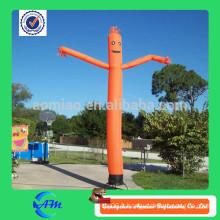 Orange color air and sky dancer pour la publicité dans la rue