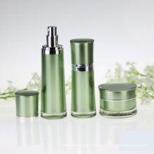 Embalaje cosmético de cintura redonda Botella acrílica sin aire
