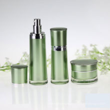 Round Waist Cosmetic Packaging Acrylic Airless Bottle