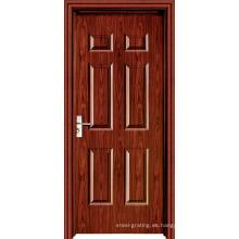 Puerta de madera interior de PVC
