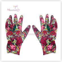 13G Palm Nitrile Dipped Woman Polyester Working Garden, Safety Gloves