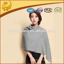 2015 neue Art-breite Längen-Normallack-Garn gefärbten Großhandel Winter 100% CashMere Schal für Frauen