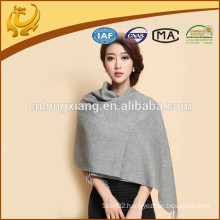 2015 New Fashion Design Wide Grey Solid Color Wholesale Cashmere Pashmina Scarf With Fringe