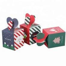 Cajas de papel de Navidad decorativas plegables regalo de nueces de avellana