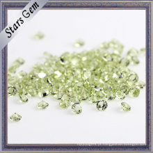 Pedra preciosa natural do Peridot de 1.5mm para a jóia