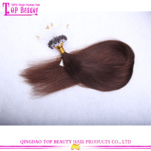 #4 Silky straight 100% human hair extensions wholesale cheap indian micro loop
