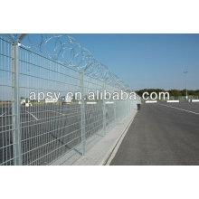 Anti-escalada seguridad ferroviaria y valla de malla de alambre decorativo