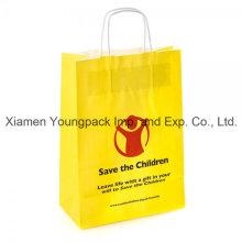 Papel promocional personalizado impresso reciclado Kraft Paper Bag