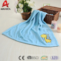 100% polyester microfiber animal printed coral fleece baby blanket