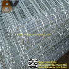 Valla de alambre de doble círculo galvanizado recubierto de PVC