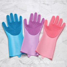 Amazon hot sales magic guantes de cocina de silicona para lavar platos