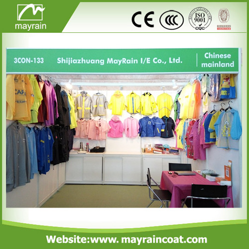 Plastic Material Raincoat for Man and Women