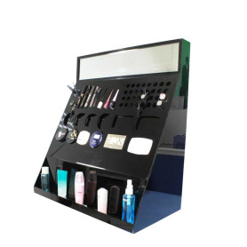 Zwarte acryl make-up bureau display staat make-up houder