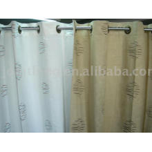 Ethnic Scale - Embroidered Polyester Suede Eyelet curtain