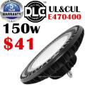 usine d'éclairage haute baie lumière ufo haute baie UL / ETL / DLC / CE certifié 5 ans warrnaty