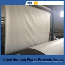 PE flat Width 210 cm /214 cm white fabric