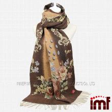 Poncho de pañuelo de lana