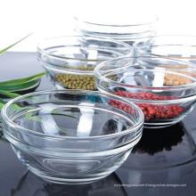 Bac à mélanger en verre transparent de haute qualité Glass Ware Kb-Hn0226