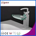 Fyeer Хромированная вентиляторная форма Стеклянная раковина Смеситель для раковины Смеситель для воды Смеситель Wasserhahn