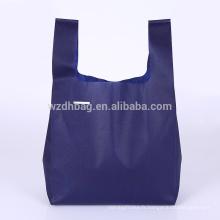 Sac à provisions ultrasonique réutilisable qui respecte l'environnement réutilisable de T-shirt de soudure pour la publicité, le cadeau et le supermarché