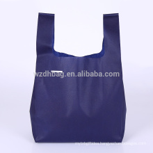 Reusable Eco-Friendly Promotional Non Woven Ultrasonic Weld T Shirt Shopping Bag For Advertising, Gift And Supermarket