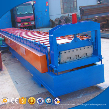 Factory selling H shape steel welding deck floor roll forming machine