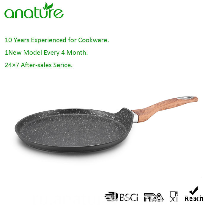 Forged Aluminum Nonstick Marble Coating Pizza Pan