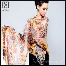 Cachecol impresso de seda de moda