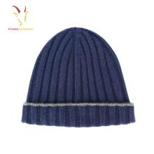 Lã De Merino Inverno Malha Beanie Chapéu Personalizado