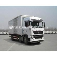 6X2 drive Sinotruk HOWO van truck/HOWO van box truck/HOWO van cargo truck/HOWO cargo box truck for 20T loading and transport