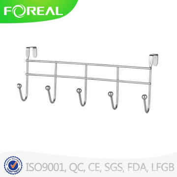 Spectrum Diversified Over The Door 5 Hook Rack Chromed