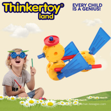 Duck Model Intellectual Toys for 3-6 Kids Conectores de construcción de plástico