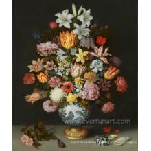Peinture à la fleur moderne à haute qualité peinte à la main