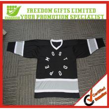 Personalizado su logotipo Jersey de hockey sobre malla de poliéster