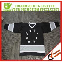 Personnalisé votre Jersey de hockey de maille de polyester de logo