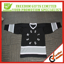 Customized Your Logo Polyester Mesh Hockey Jersey