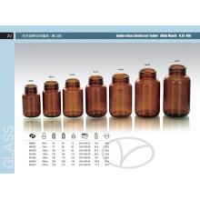 Amber Boston Glass Bottle