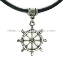 Wholesale Fashion Charm Ships Wheel Greek Leather Necklace For Women